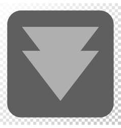 Move Down Rounded Square Button vector
