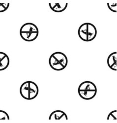 No locust sign pattern seamless black vector