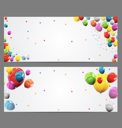 party background baner and balloons vector image