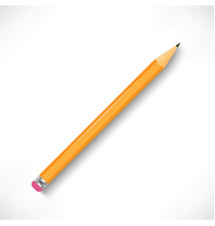 pencil with rubber eraser icon vector image