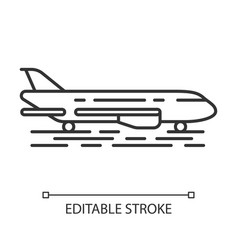 plane on ground linear icon vector image