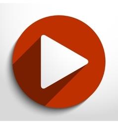play web icon vector image