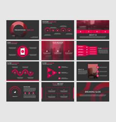 Red abstract circle presentation templates vector