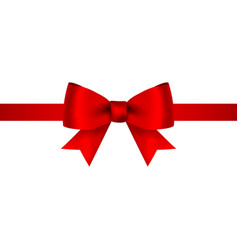 red bow for gift and greeting card isolated on vector image