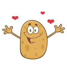 Romantic Potato Cartoon vector image