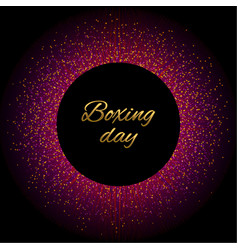 Round boxing day pink vector
