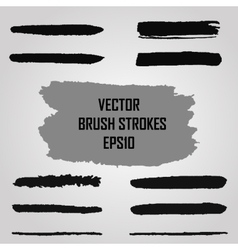 Set of grunge brush strokes Jpeg version also vector