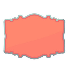Shaped label icon cartoon style vector