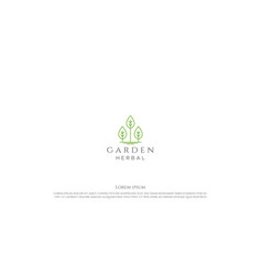 simple minimalist green plant leaf for garden vector image