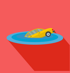 sinking car icon flat style vector image