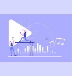 Sound design professional people music concept vector