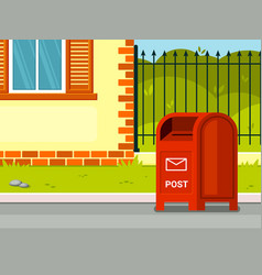 street mailbox near house red vector image