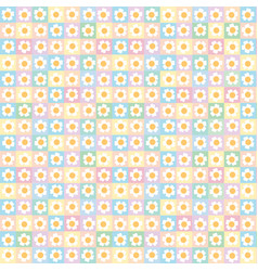 sweet floral seamless pattern backgroundromantic vector image