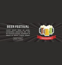 three mugs of beer of different colors vector image