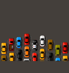 Traffic jam on the road road transport highway vector
