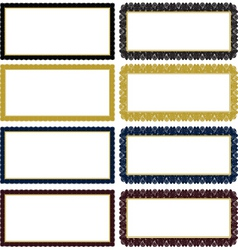 Vector ornate decorative frame set vector