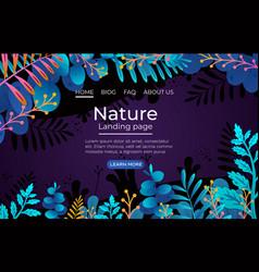 vegetation tropical forests nature landing vector image