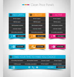 Web price shop panel with space for text and buy vector