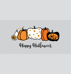 website spooky header or banner with halloween vector image