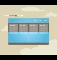 website template with clouds vector image vector image