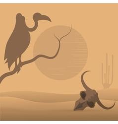 Wild West desert vector