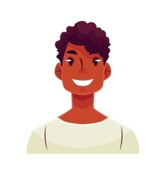 Young african man face smiling facial expression vector