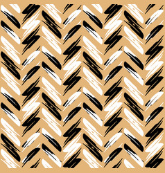 Zigzag pattern seamless background gold vector