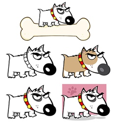 Angry Dog Bull Terrier Collection vector image