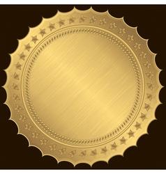 Golden blank label vector image vector image