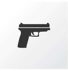 gun icon symbol premium quality isolated weapons vector image