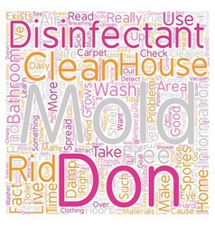 Mold Disinfectant text background wordcloud vector image vector image
