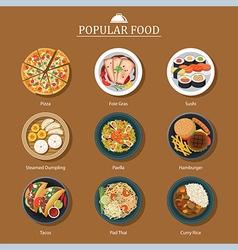 Set of popular food vector