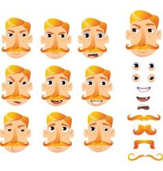 Cartoon faces for humor vector
