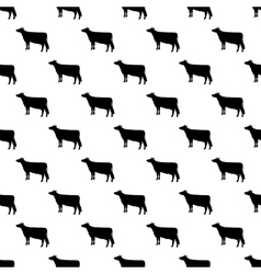 Cow pattern seamless vector image