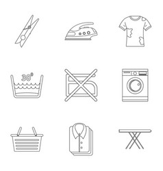 dry cleaning icons set outline style vector image vector image