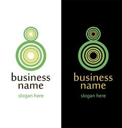 logo circles eight handmade vector image