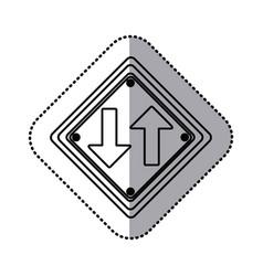 Sticker silhouette diamond shape frame two way vector