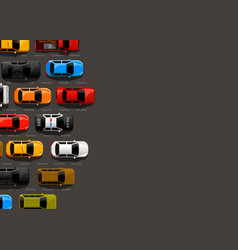 traffic jam on the road road transport highway vector image