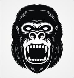 Wild Gorilla Head vector image