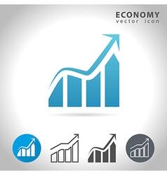 Economy blue icon vector