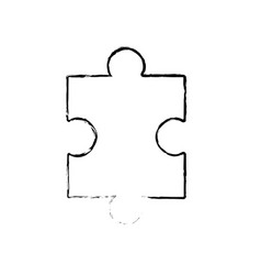 figure puzzle element to game and teamwork vector image vector image