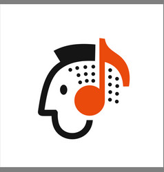 man listening to music vector image vector image