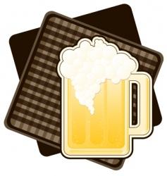 mug of beer vector image