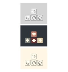 plain square arrow icons vector image