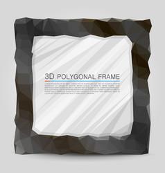 polygonal frame vector image