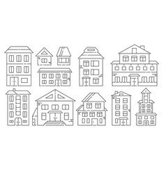 real estate and residential buildings icons in vector image vector image