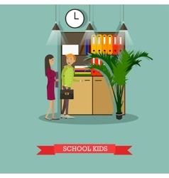 school kids characters in vector image