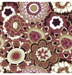 Floral seamless pattern in trendy marsala colors vector image vector image