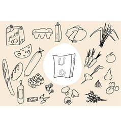 food scetch vector image