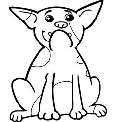 french bulldog cartoon for coloring vector image vector image